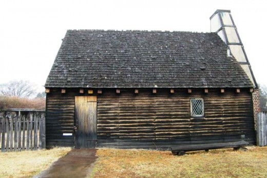 Reconstructed home like those in early Colonial Maryland