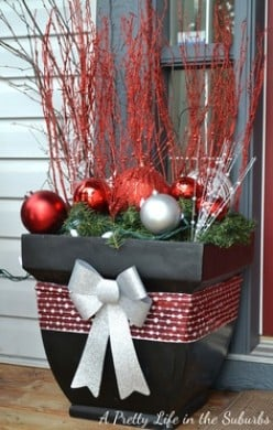 How to Create Christmas Decorations Using Garden Pots