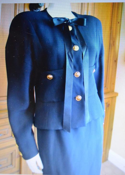 Chanel 80s Haute Couture Suit