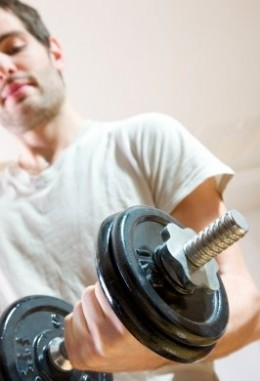 Hit the gym, lift some weights, pack up on your proteins and follow all this up with a healthy lifestyle.