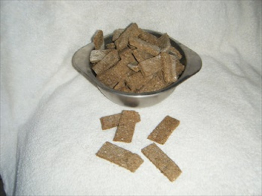 Bowl of Liver Dog Biscuit Treats