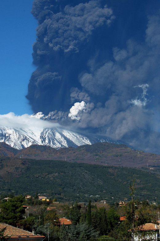Mount Etna continues to erupt escalating the danger to nearby residents.