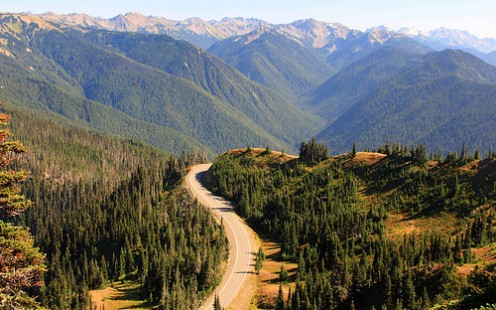 Olympic National Park  accessible from Port Angeles, Washington.