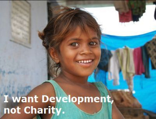 Poverty means improper development.