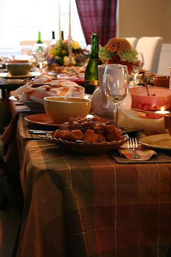 Thanksgiving Dinner Spread