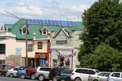 Attending the 'Airing of the Quilts' event in historic Braidwood, I couldn't help but notice how many old buildings now hold modern solar panels.