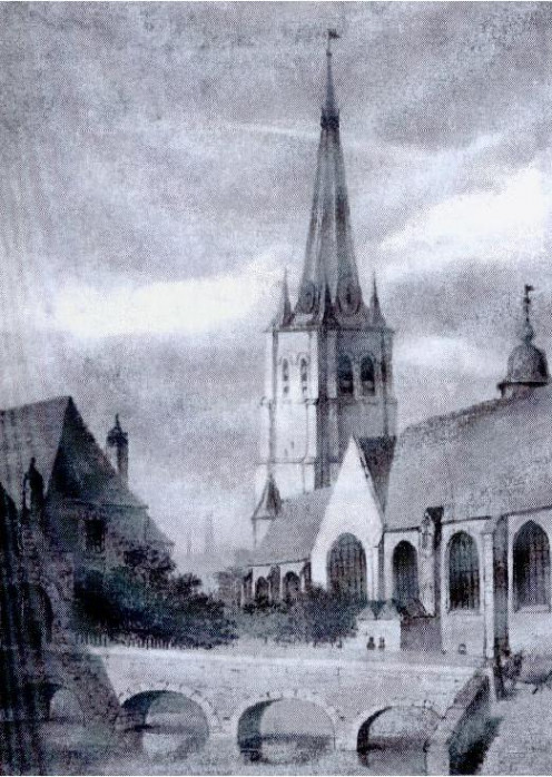 Saint-Christophe church, beginning of 19th century