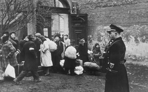 Nazi SS Officer Overseeing Jewish Deportation
