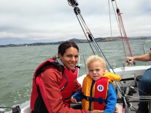 Joma and Miles on San Francisco Bay