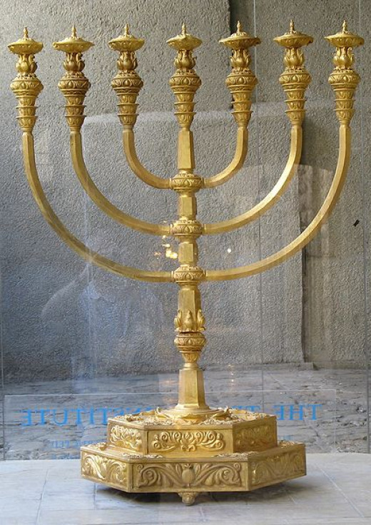 A seven branched menorah