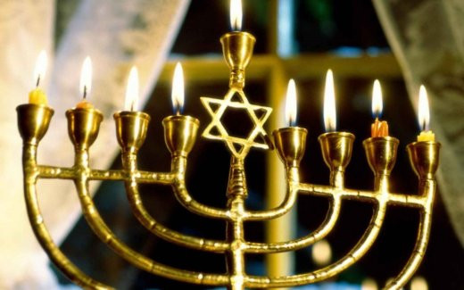 An 8 branched Chanukiah only used for Hanukkah