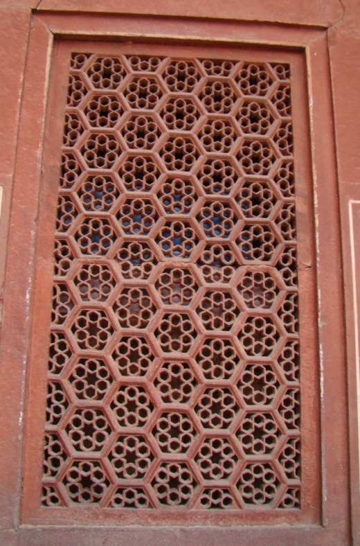 Jali work of Agra fort 1