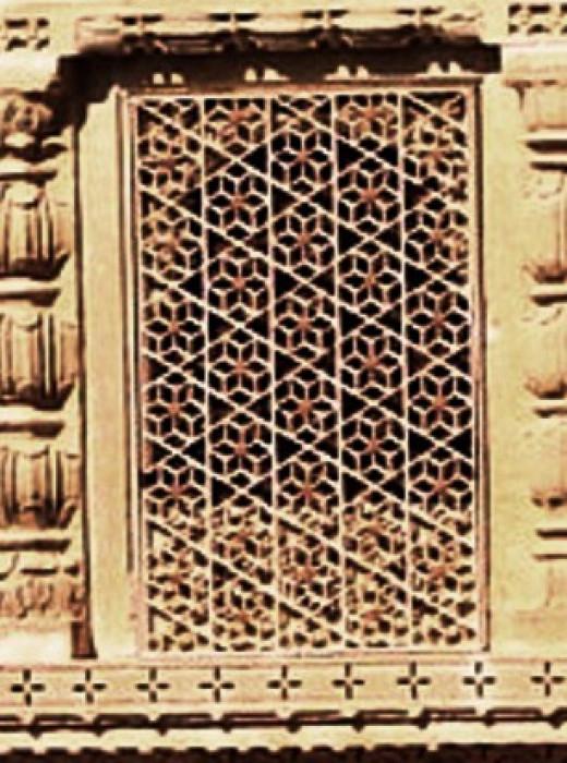 Jali work of Amar Sagar Palace, Jaisalmer, Rajsthan