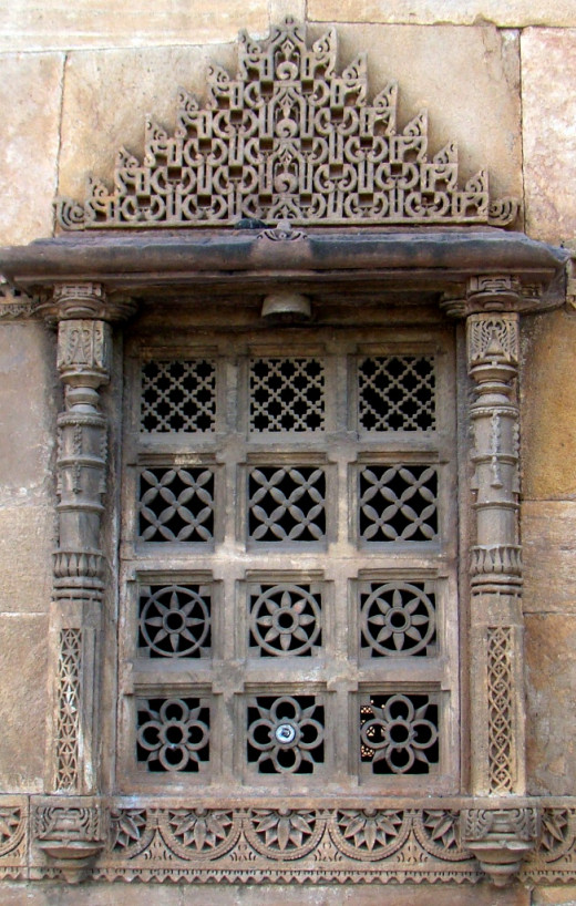 Jali work of Bibiji Mosque, Ahmedabad
