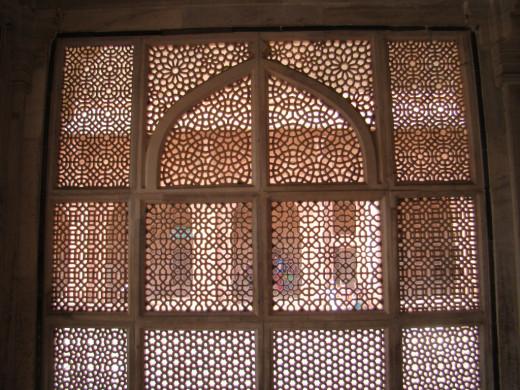 Jali work of Salim Chisti's mausoleum, Fatehpur Sikri 2