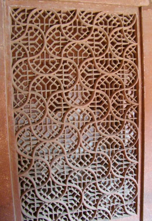 Jali work of Salim Chisti's mausoleum, Fatehpur Sikri 7
