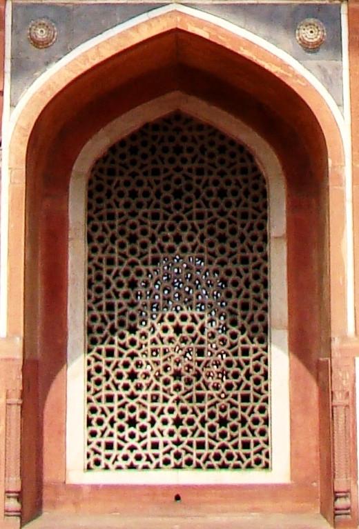 Jali work of Humayun's tomb, Delhi 1