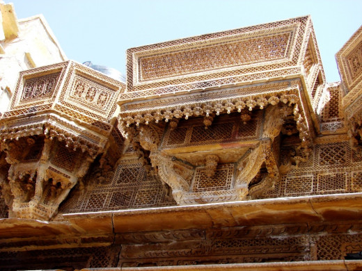 Jali work of a palace; Jaisalmer, Rajsthan