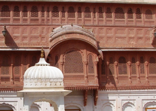 Jali work of Junagad fort, Bikaner, Rajsthan 1