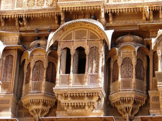 Jali work of Patwan Ki Haveli; Jaisalmer, Rajsthan