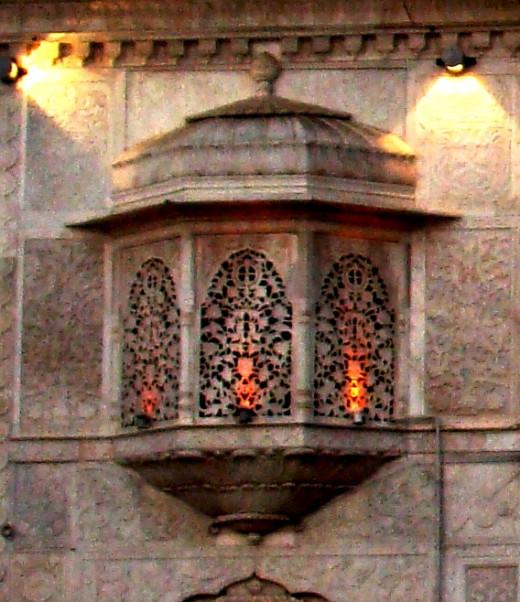 Jali work of Sachkhand Gurdwara; Nanded, Maharashtra