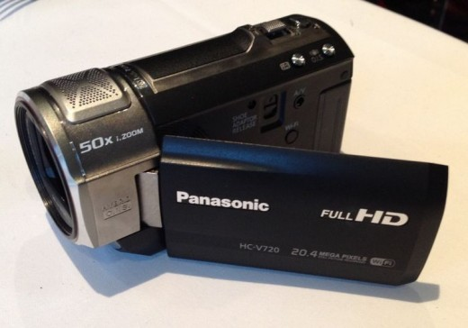 Panasonic HC-V720 3D Ready 1MOS HD Digital Camcorder with Wi-fi