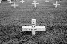 "Jim Byrd cemetery where prisoners are buried in Texas. if they are executed an ""x"" appears on the cross above their number. Their name is not included on the cross. Even in death  they still remain prisoners"