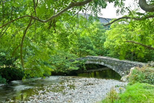 New Bridge across the Derwent, north out of Rosthwaite - there are four rivers named 'Derwent' in England, this one in Cumbria, another each in Co. Durham, Derbyshire and Yorkshire. Confusin' innit?