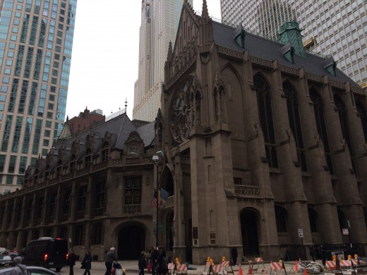 Beautiful church in Downtown Chicago