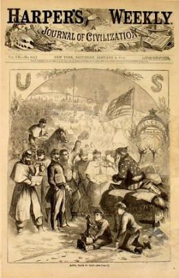 Santa Clause 1863 Harpers Weekly Magazine