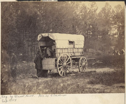a miltary type wagon from Civil War era.