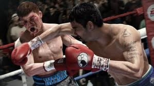 Manny Pacquiao hits Ricky Hatton in a boxing match. Fight Night Champion features real boxers that have their actual characteristics from real life.