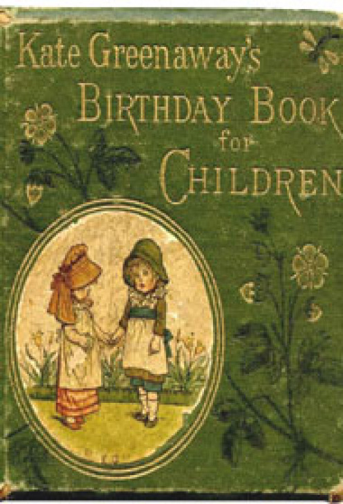 """""""Birthday Book for Children"""" by Kate Greenaway."""