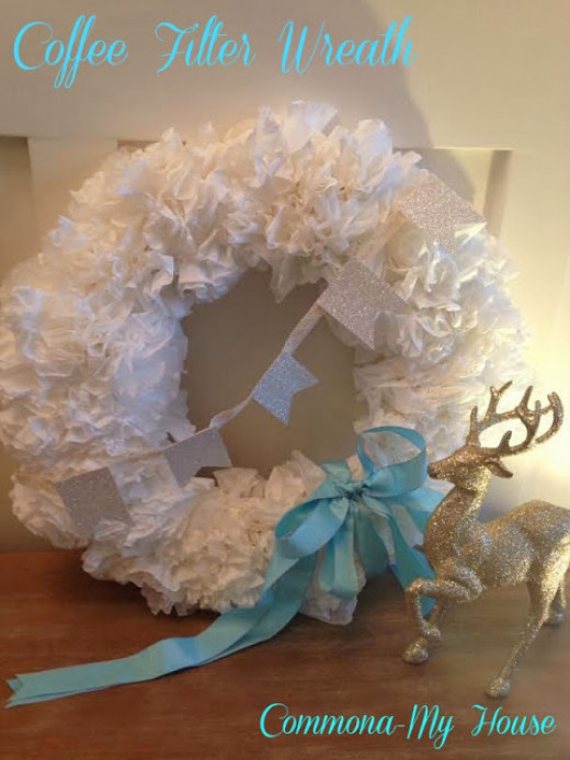 Coffee Filter Wreath DIY