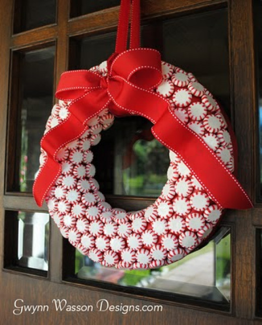 Peppermint Wreath DIY