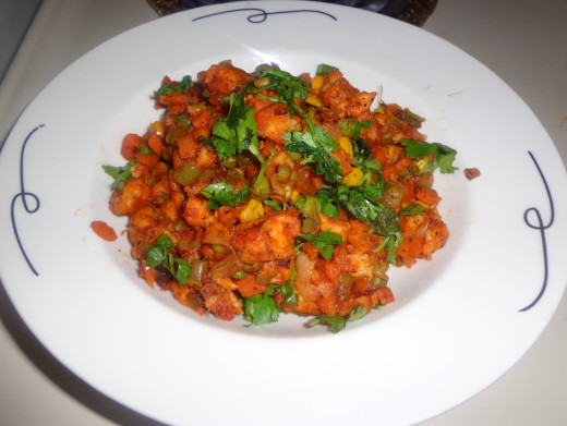 Vegetable bread manchurian