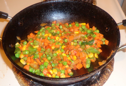 Cook all the vegetables in medium flame
