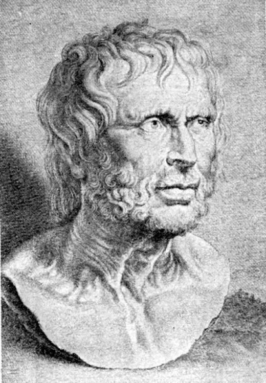 Lucius Annaeus Seneca, drawing by Peter Paul Rubens