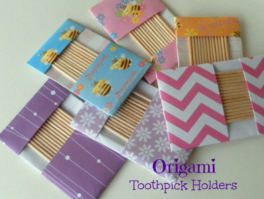 Paper Toothpick Holders look fabulous with different origami paper.