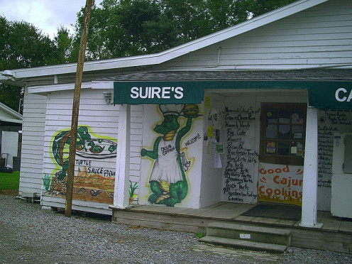 Suire's Cajun Grocery and Restaurant near Cow Island LA. Traditional recipes used here.
