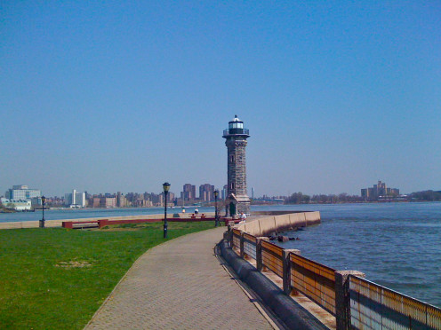 A lighthouse in New York City.