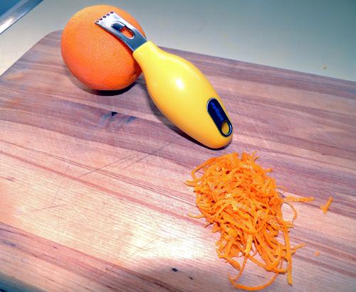zest 4-5 oranges