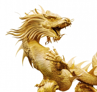 Image of a Golden dragon