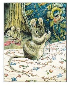 "From ""The Tailor of Gloucester"" (1903) by Beatrix Potter."
