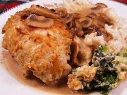 Gorgonzola Chicken Marsala stuffed with spinach