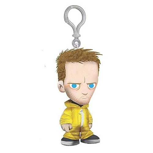 PLush toy keychain of Jesse Pinkman in hazmat suit