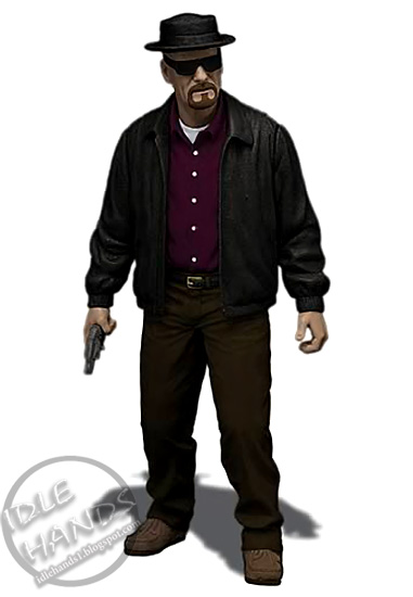 Bad ass Walter White transformed fully into Heisenberg