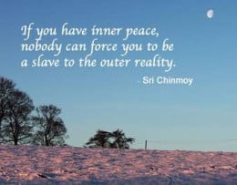 Man's search for inner peace