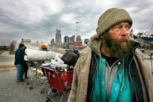 The Homeless and their belongings-A much more regular sight in most big cities of the US