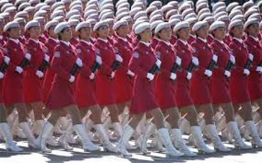 Regimented troops